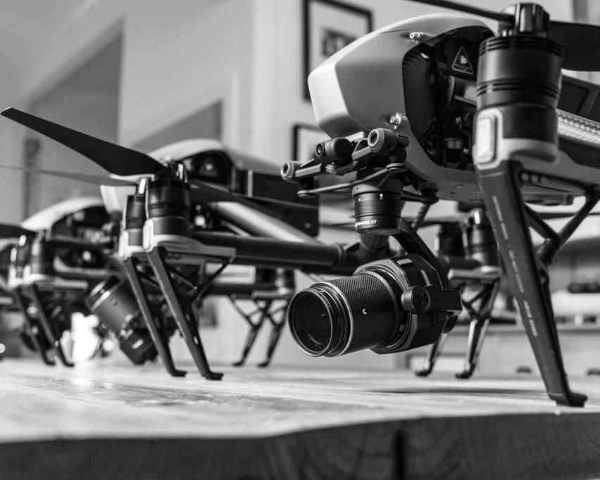 Lots of DJI Inspire 2 drones